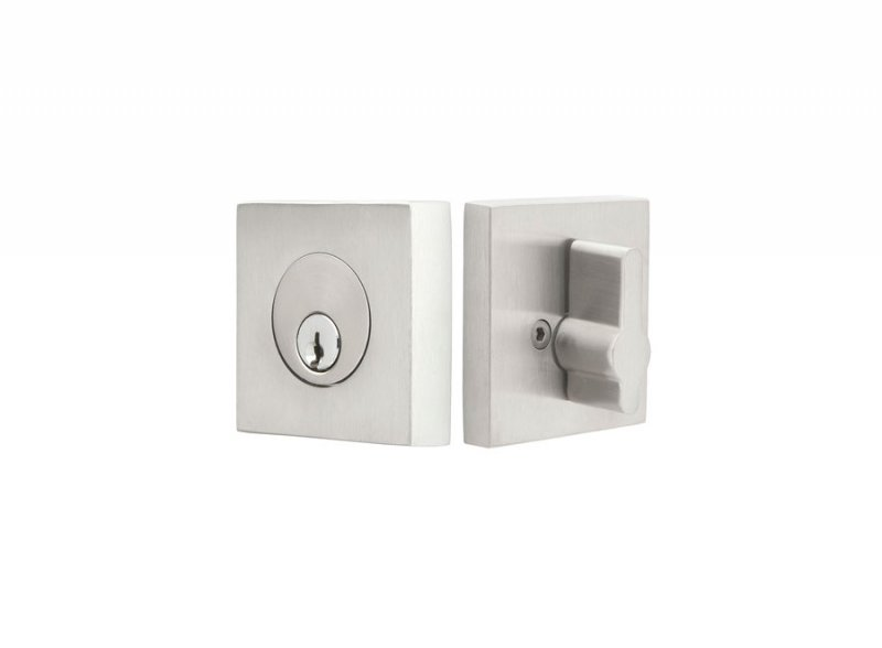 Emtek Stainless Steel Square US26 Deadbolt