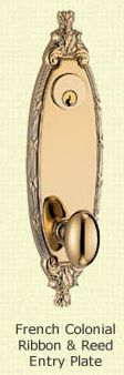 Fision French Colonial Ribbon & Reed Entry Plate