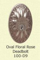 Fusion Oval Floral Rose Deadbolt 100-D9