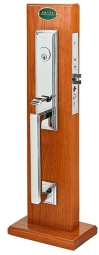 Emtek Manhattan OS US26 Mortise Handleset