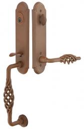 Emtek Monolithic Lafayette Rust Handleset