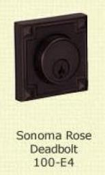 Fusion Sonoma rose Deadbolt 100-E4