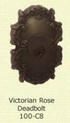 Fusion Victorian Rose Deadbolt 100-C8