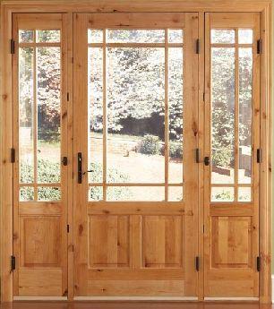 Atrium Patio Door With Operable Sidelites
