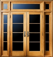 Exterior doors janss lumber for Andersen french door retractable screens