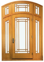 Andersen Archtop Architectural Patio Door with Sidelights, Transoms and Custom Grilles