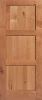 Masonite Knotty Alder 3 Equal Panel