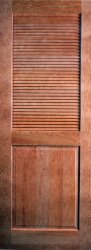 Woodgrain 732 Louver Over Panel