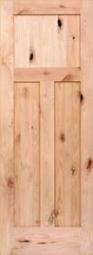 American Hardwoods 3-Panel Shaker Knotty Alder