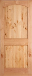 Masonite Knotty Alder 2-Panel Planked Camber Top