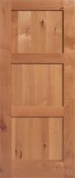 Masonite Knotty Alder 3-Equal Panel